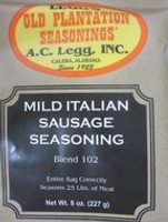 MILD Italian Sausage Seasoning for 25 Lbs of meat Use for Links or other dishes