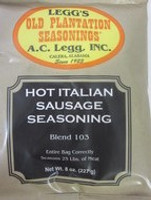 HOT ITALIAN Sausage Seasoning for 25 Lbs of Links or Ground   *Favorite Recipe*