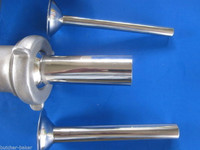 (3) Stuffing Tubes for VINTAGE Kitchenaid meat grinder attachment on mixer