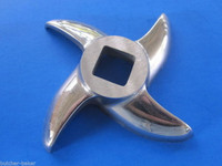 #22 Stainless sausage stuffing stuffer tube for meat grinder PLUS new knife