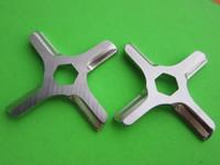 *TWO* KNIVES for Moulinex Krups Older Rival meat grinder with HEX CENTER HOLE