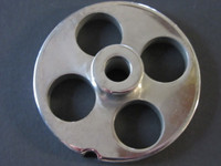 """#12 x 3/4"""" holes.  Stainless steel meat grinder plate"""