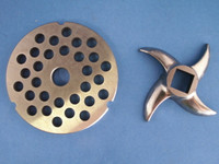 """Size #42 x 3/4 """" AND KNIFE Meat Grinder Disc Plate for Cabelas, Hobart, Weston etc"""