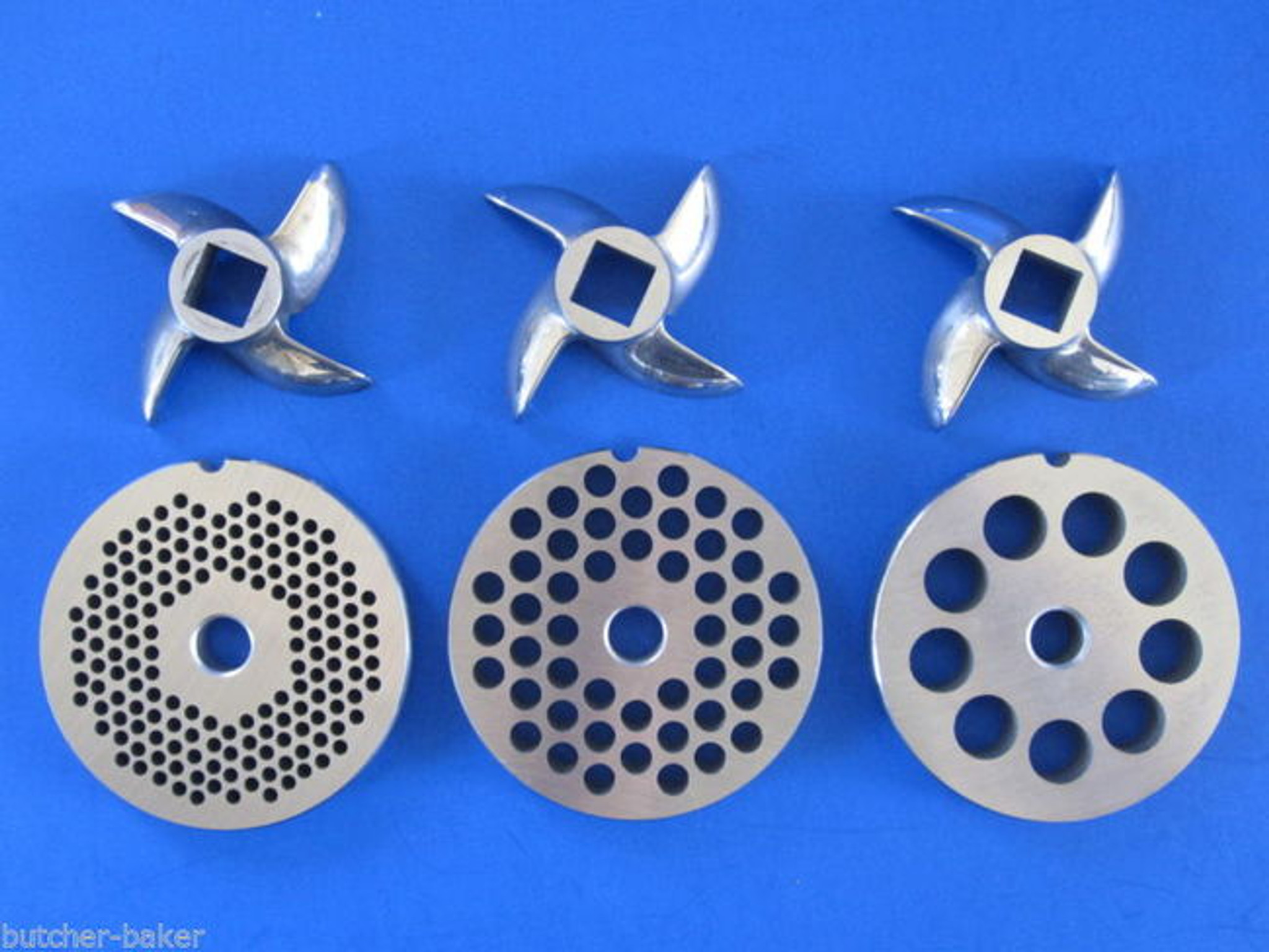 6 Pc Set Meat Grinder Disc 3 Plates Amp 3 Knife For Lem Mtn