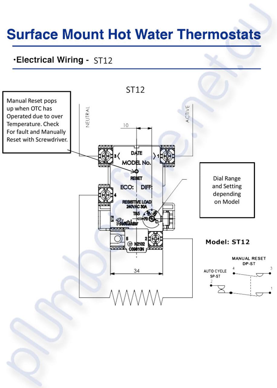 robertshaw st1203133 st 12 70k surface mount hot water thermostat rh plumbonline net au Robertshaw Thermostat Troubleshooting Robertshaw Thermostat User Manuals