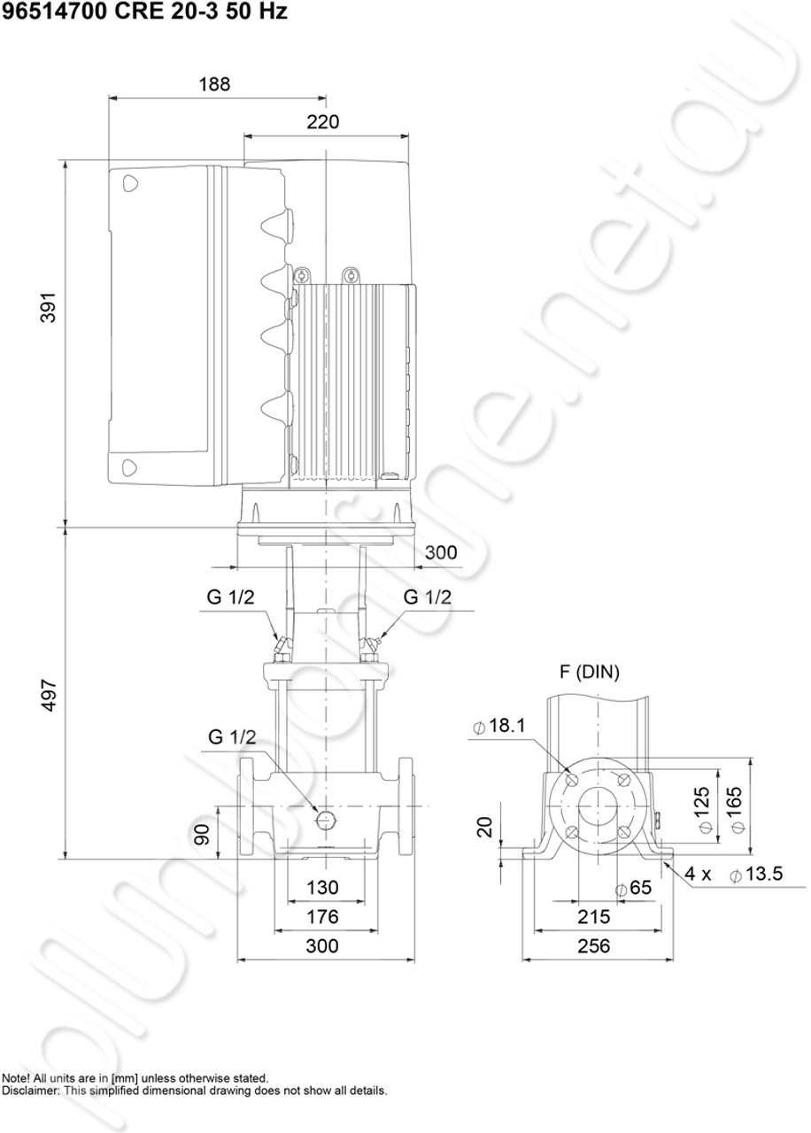 Grundfos CRE 20-3 Vertical, non-self-priming, multistage