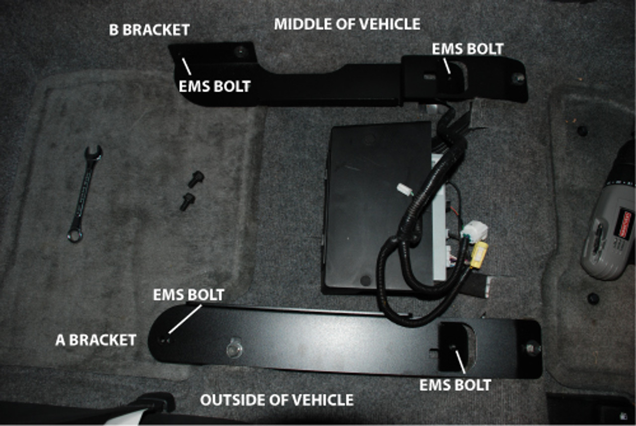 Top View of Brackets with Seat Removed
