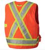 Safety Orange, Back - 6692 Hi-Viz Surveyor's Safety Vest