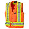 Safety Orange - 6692 Hi-Viz Surveyor's Safety Vest