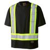 Black - 6992 Birdseye Safety T-Shirt   Safetywear.ca