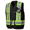 Black 100% Cotton Duck Surveyor's/Supervisor's Vest with Radio Pocket