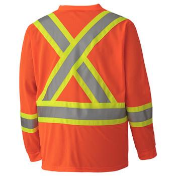 Safety Orange - 6984 Hi-Viz Traffic Long-Sleeved Shirt