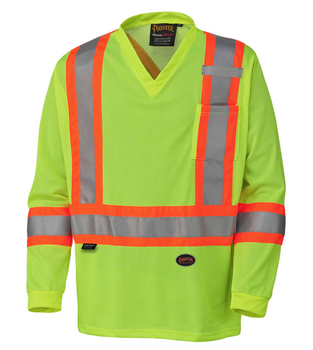 Yellow/Green Hi-Viz Traffic Long-Sleeved Shirt