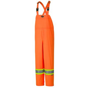 Orange - Hi-Viz 150D Lightweight Waterproof Safety Bib Pant