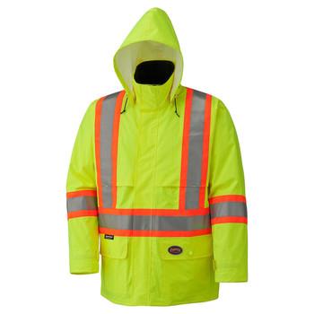 Yellow/Green Hi-Viz 150D Lightweight Safety Jacket with Detachable Hood