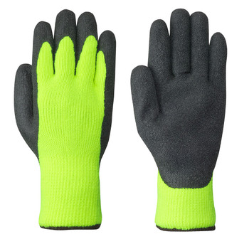 Yellow/Green/Black 5322 Seamless Knit Latex Glove