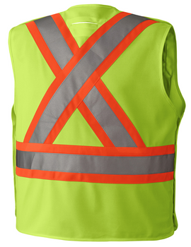 Yellow 6931 Hi-Viz Safety Tear-Away Vest