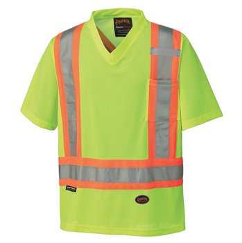 Yellow/Green 6989 Hi-Viz Traffic Micro Mesh T-Shirt