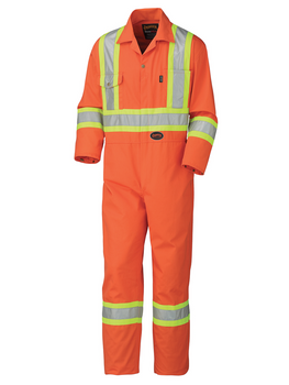 Safety Orange - Orange 5514 Safety Poly/Cotton Coverall