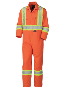 Orange - 5514T Safety Poly/Cotton Coverall