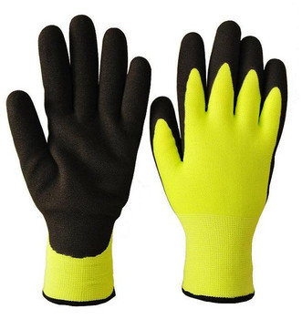 Black/Yellow Double Nitrile Seamless Knit Ice Grip Glove
