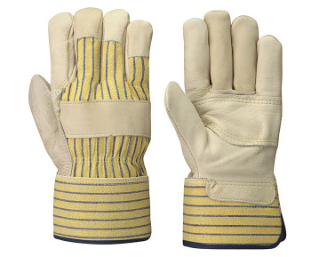 Beige/Yellow Stripe Insulated Fitter's Cowgrain Glove