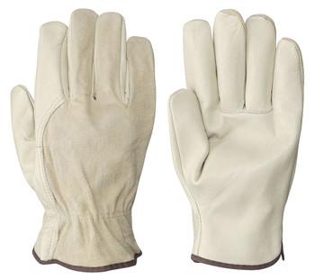Beige/Navy 535 Driver's Cowgrain Glove