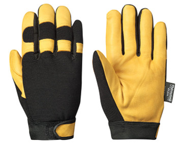 Black/Yellow MechanicÔÇÖs Style Ergonomic Glove