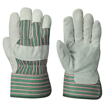 Grey/Green 555 Fitter's Cowsplit Glove