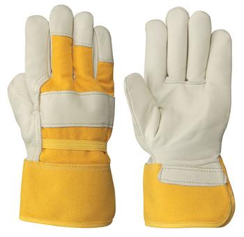Cream/Yellow Insulated Fitter's Cowgrain Glove