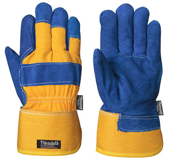 Blue/Yellow 630 Insulated Fitter's Cowsplit Glove