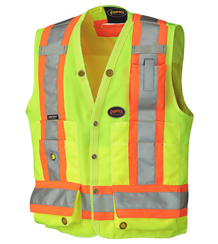 Yellow/Green Hi-Viz Surveyor's Safety Vest