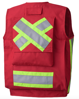 RED 695 SURVEYOR's VEST BACK