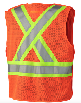 6935 Hi-Viz Safety Mesh Back Vest, Back | Safetywear.ca