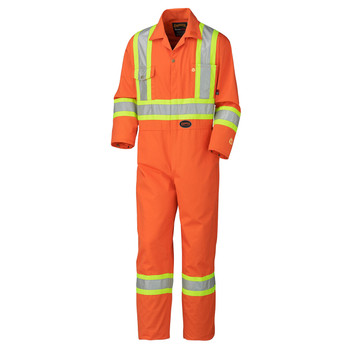 Orange - 5555T Tall Flame Resistant Cotton Safety Coverall