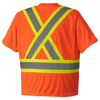 Orange Birdseye Safety T-shirt Back