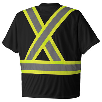 Black Black Birdseye Safety T-shirt Back