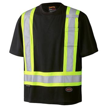 Black - 6992 Birdseye Safety T-Shirt | Safetywear.ca
