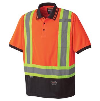 Orange - 6986 Birdseye Safety Polo Shirt