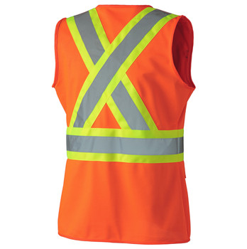 136 Hi-Viz Women's Safety Vest, Back