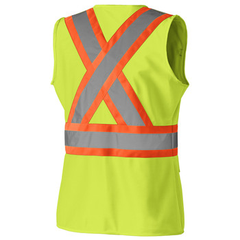 139 Hi-Viz Women's Safety Vest, Back