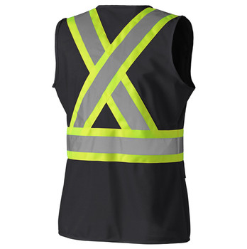 139BK Hi-Viz Women's Safety Vest Back