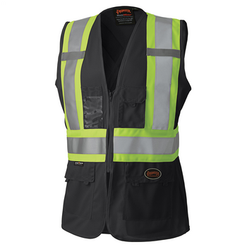 Black - 139BK Hi-Viz Women's Safety Vest