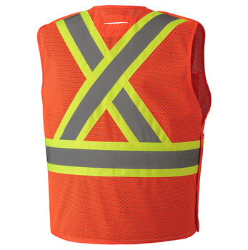 6932 Hi-Viz Safety Tear-Away Vest, Back
