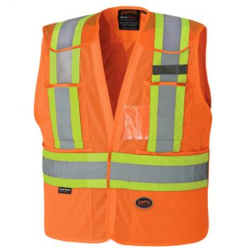 Safety Orange - 6932 Hi-Viz Drop Shoulder Safety Tear-Away Vest