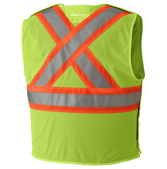 6916A Flame Resistant Hi-Viz Tear-away Vest, Back