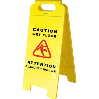 301 Bilingual Janitorial Wet Floor Sign