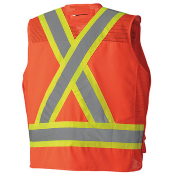 6694 Hi-Viz Surveyor's Safety Vest Back