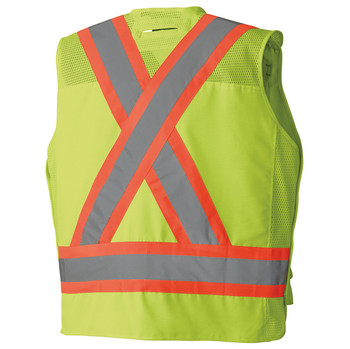 6695 Hi-Viz Surveyor's Safety Vest Yellow Back