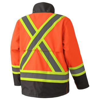 5400 300D Ripstop Safety Rain Jacket Back